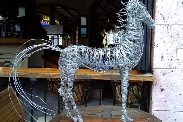 wire sculpture in cabo
